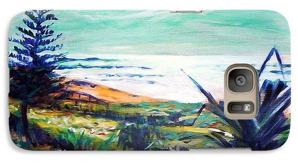 Galaxy S7 Case featuring the painting The Lawn Pandanus by Winsome Gunning