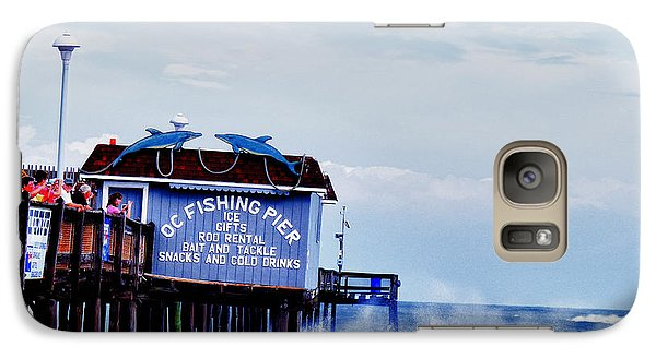 Galaxy Case featuring the photograph The Leaning Pier by Kelly Reber