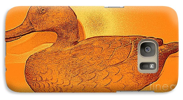 Galaxy Case featuring the photograph The Legend Of The Golden Duck by Richard W Linford