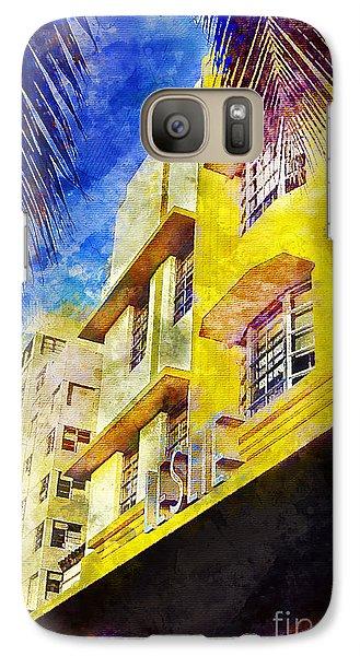 The Leslie Hotel South Beach Galaxy Case by Jon Neidert
