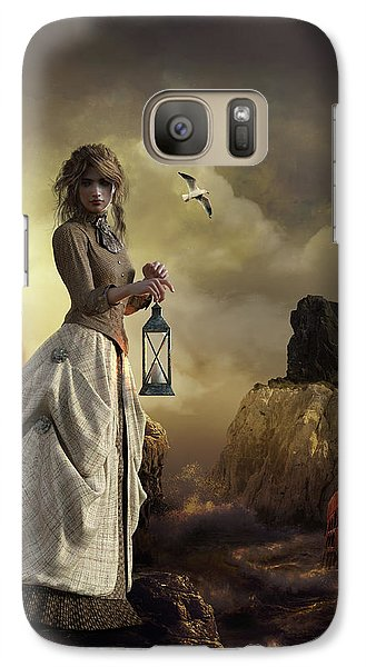 Galaxy Case featuring the digital art The Lighthouse Keeper's Daughter by Shanina Conway
