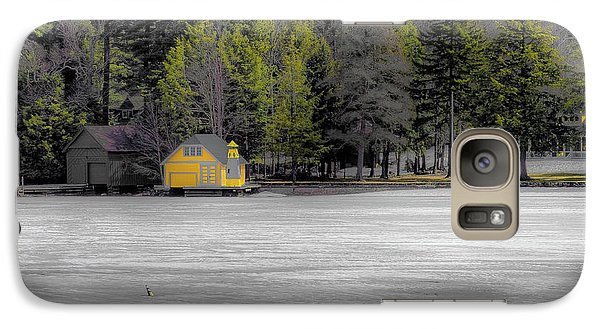 Galaxy Case featuring the photograph The Lighthouse On Frozen Pond by David Patterson