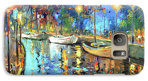 Galaxy Case featuring the painting The Lights Of The Sleeping City by Dmitry Spiros