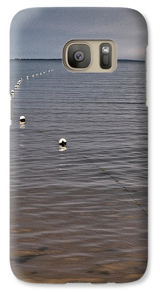 Galaxy Case featuring the photograph The Line by Jouko Lehto
