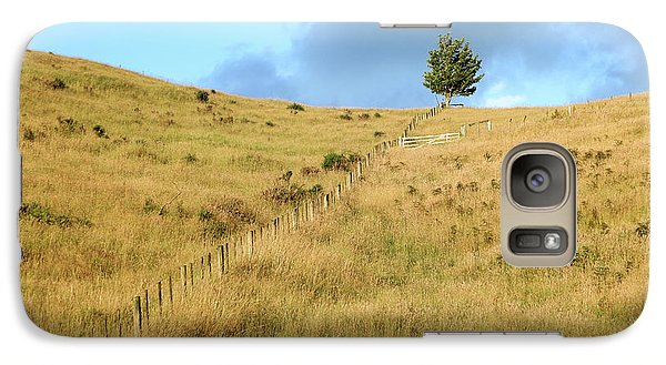 Galaxy Case featuring the photograph The Lines The Tree And The Hill by Yoel Koskas
