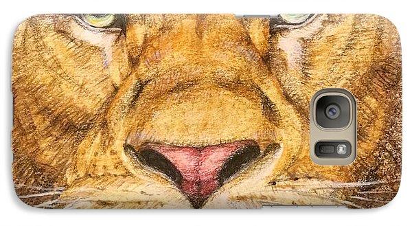 The Lion Roar Of Freedom Galaxy Case by Kent Chua