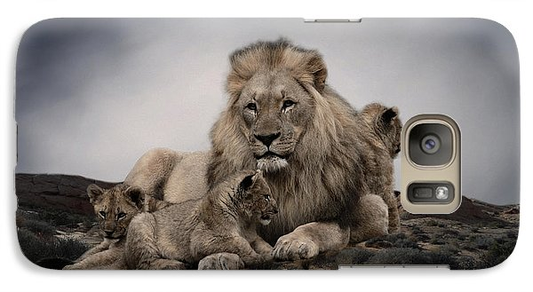 Galaxy Case featuring the photograph The Lions by Christine Sponchia