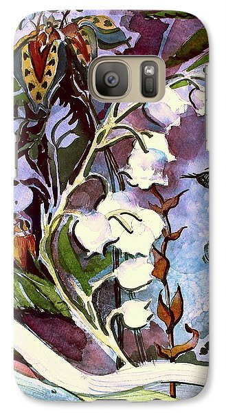 Galaxy Case featuring the painting The Little Gardener by Mindy Newman