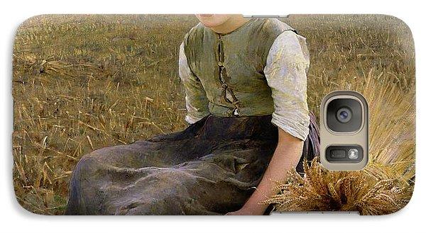 Rural Scenes Galaxy S7 Case - The Little Gleaner by Hugo Salmson