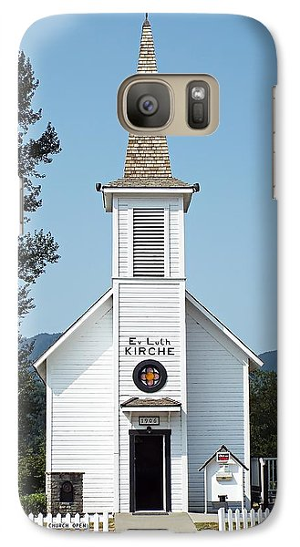 Galaxy Case featuring the photograph The Little White Church In Elbe by Joseph Hendrix
