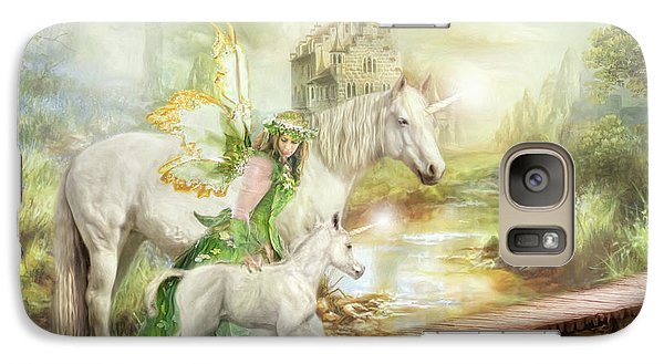 Galaxy Case featuring the digital art  The Littlest Unicorn by Trudi Simmonds