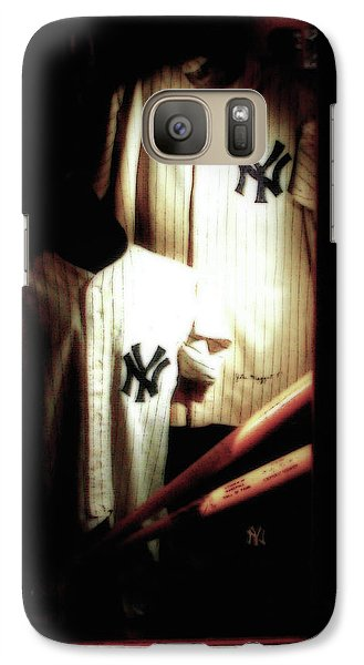 Mickey Mantle Galaxy S7 Case - The Locker  Mickey Mantle's And Joe Dimaggio's Locker by Iconic Images Art Gallery David Pucciarelli