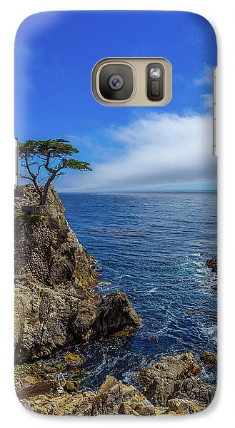 Galaxy Case featuring the photograph The Lone Cypress 17 Mile Drive by Scott McGuire