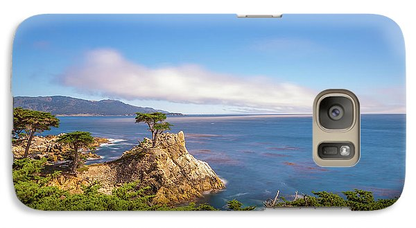Galaxy Case featuring the photograph The Lone Cypress Pebble Beach by Scott McGuire