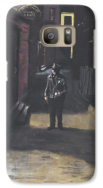 Galaxy Case featuring the painting The Lonely Beat by Jack Skinner