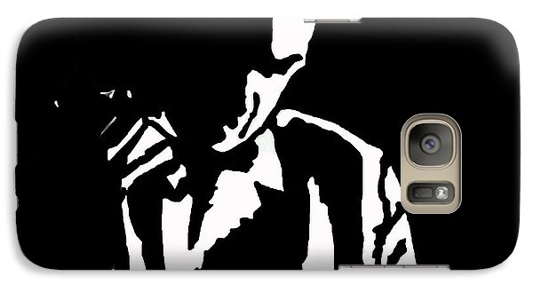 Galaxy Case featuring the drawing The Lonely Jazz Player by Robert Margetts
