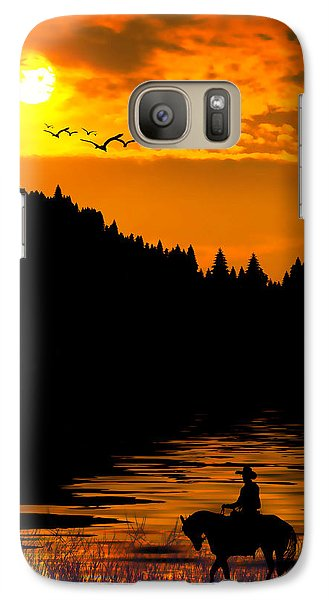 Galaxy Case featuring the photograph The Lonesome Cowboy by Diane Schuster