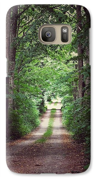 Galaxy Case featuring the photograph The Long Driveway by Karen Stahlros