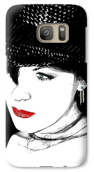 Galaxy Case featuring the painting The Look by Tbone Oliver