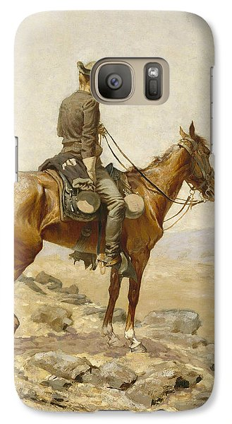 Horse Galaxy S7 Case - The Lookout by Frederic Remington