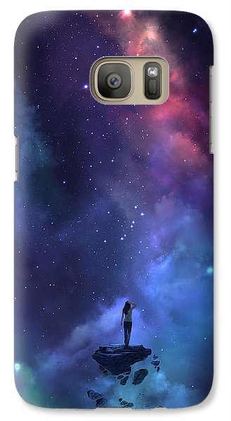 Galaxy Case featuring the digital art The Loss by Steve Goad