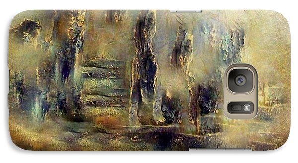 Galaxy Case featuring the painting The Lost City By Sherriofpalmsprings by Sherri  Of Palm Springs