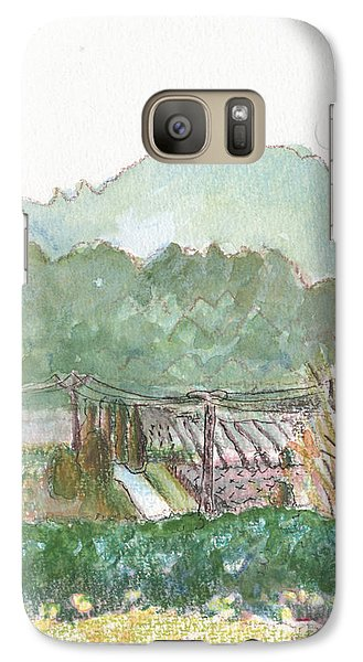 Galaxy Case featuring the painting The Luberon Valley by Tilly Strauss