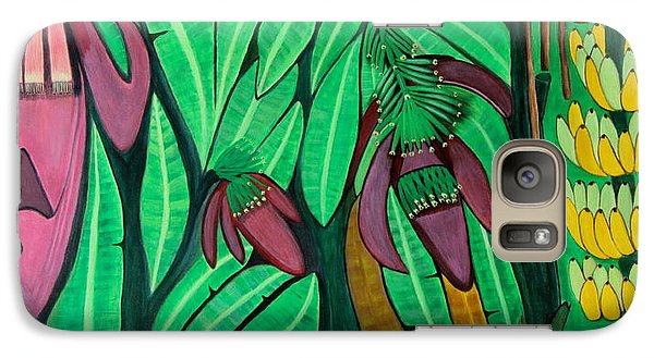 Galaxy Case featuring the painting The Magic Of Banana Blossoms by Lorna Maza