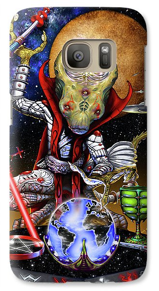 Galaxy Case featuring the digital art The Magician 78 Tarot Astral Card by Stanley Morrison