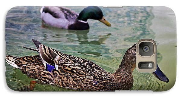 Galaxy Case featuring the photograph The Mallard Pair by Mary Machare