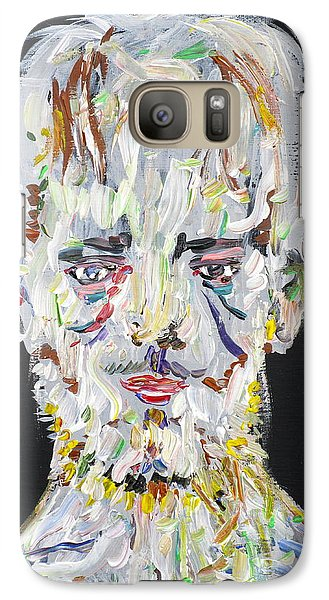 Galaxy Case featuring the painting The Man Who Tried To Become A Mountain by Fabrizio Cassetta