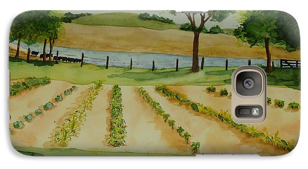 Galaxy Case featuring the painting The Mangan Farm  by Vicki  Housel