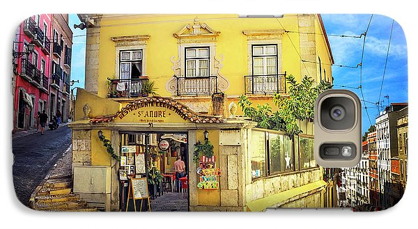 Galaxy Case featuring the photograph The Many Colors Of Lisbon Old Town  by Carol Japp
