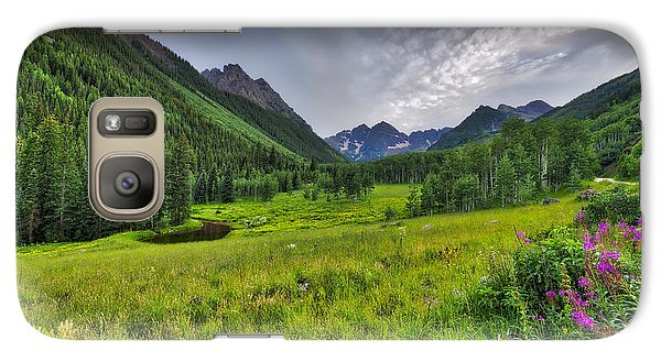 The Maroon Bells - Maroon Lake - Colorado Galaxy S7 Case