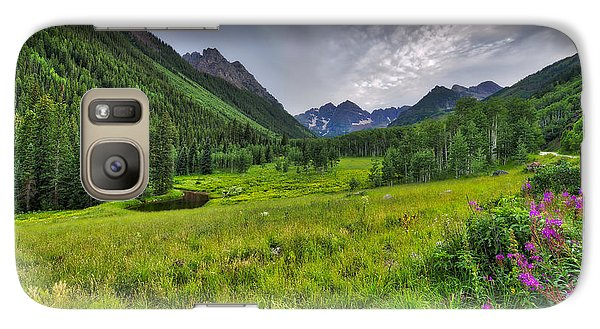 Galaxy Case featuring the photograph The Maroon Bells - Maroon Lake - Colorado by Photography By Sai