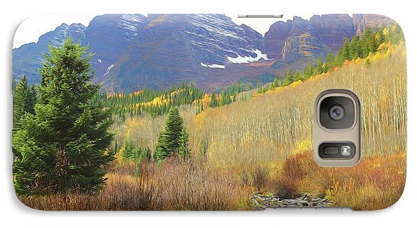 Galaxy Case featuring the photograph The Maroon Bells Reimagined 3 by Eric Glaser