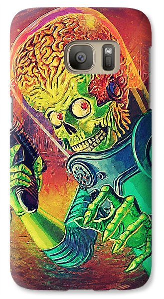 The Martian - Mars Attacks Galaxy Case by Taylan Apukovska