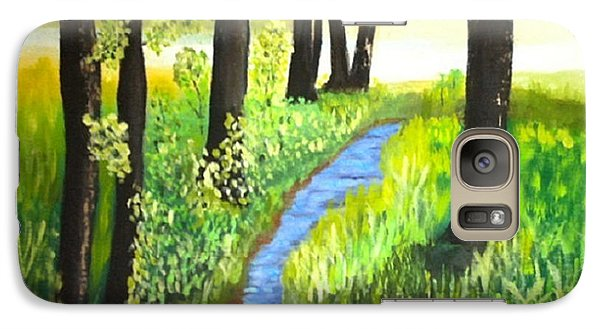 Galaxy Case featuring the painting The Meadow by Rod Jellison