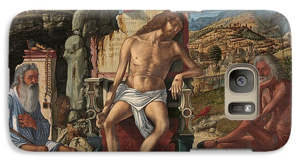 Galaxy Case featuring the painting The Meditation On The Passion by Vittore Carpaccio