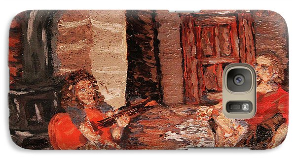 Galaxy Case featuring the painting The Mentor And The Student by Denny Morreale