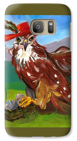 Galaxy Case featuring the painting The Merlin by Susan Thomas