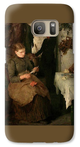 Galaxy Case featuring the painting The Message by Henry Scott Tuke