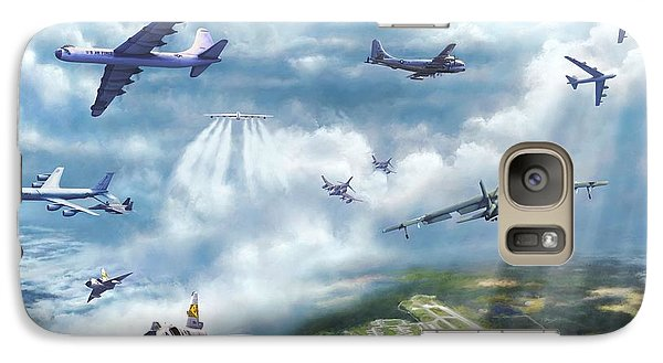 Galaxy Case featuring the painting The Mighty Loring A F B by Dave Luebbert