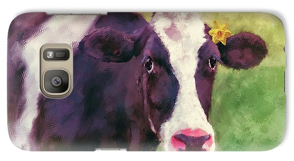 Galaxy Case featuring the photograph The Milk Maid by Lois Bryan