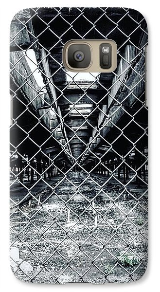 Galaxy Case featuring the photograph The Missing Train by Michael Albright