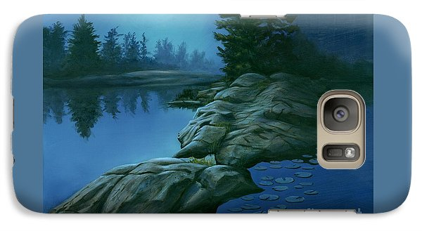 Galaxy Case featuring the painting The Moonlight Hour by Michael Swanson
