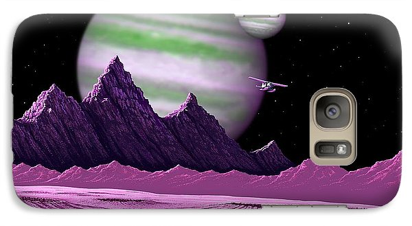 Galaxy Case featuring the digital art The Moons Of Meepzor by Scott Ross