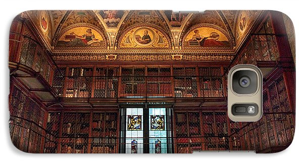 Galaxy Case featuring the photograph The Morgan Library Window by Jessica Jenney
