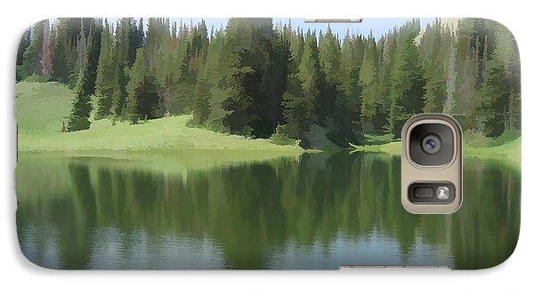 Galaxy Case featuring the digital art The Morning Calm by Gary Baird