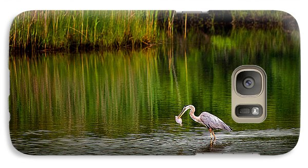 Galaxy Case featuring the photograph The Morning Catch by Mark Miller